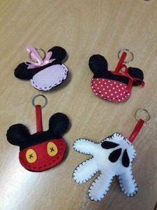 Trabalho artesanal alusivo ao Mickey Mouse