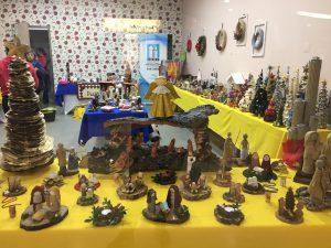 Exposição dos trabalhos artesanais alusivos ao Natal feitos pelos utentes da APPACDM