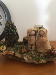 Trabalho artesanal alusivo ao Natal e à Família Sagrada feito pelos utentes da APPACDM
