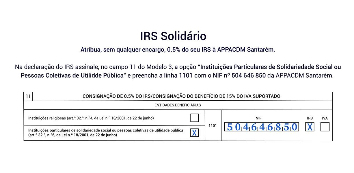 IRS Solidário APPACDM Santarém