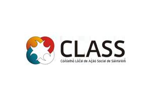 Logotipo do Conselho Local de Ação Social de Santarém