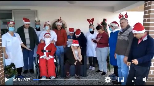 Utentes da APPACDM felicitam um bom natal