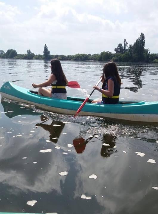 Utentes da APPACDM a praticar canoagem