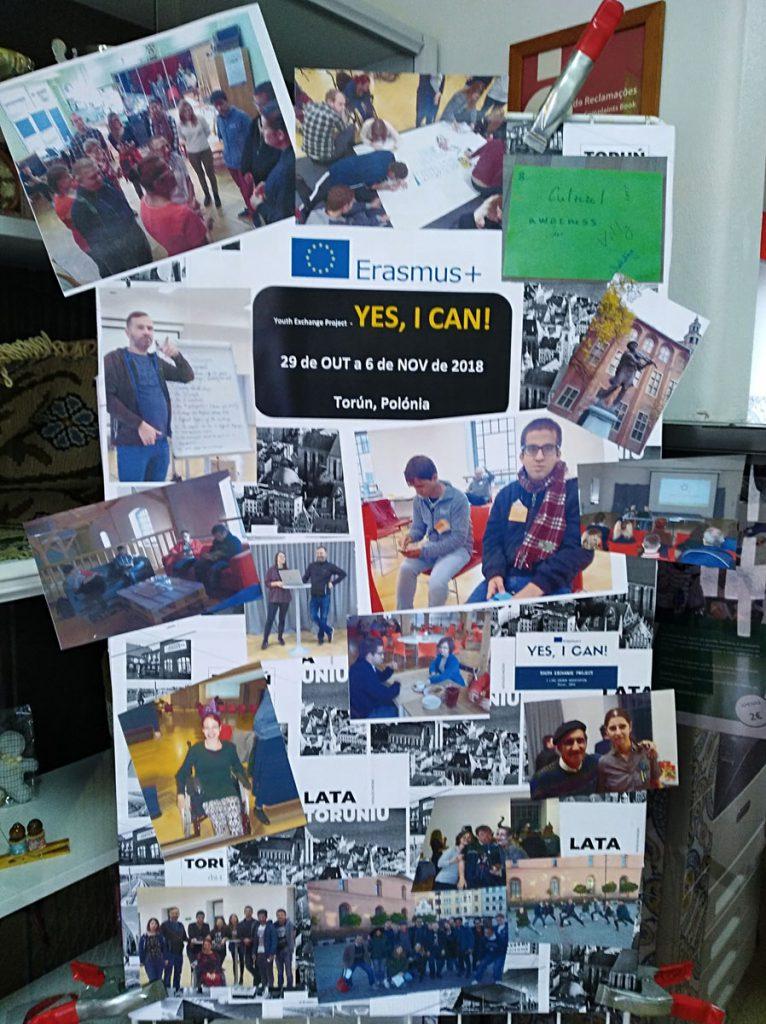 Conjunto de fotografias alusivas ao projeto Yes, I Can! do Erasmus+