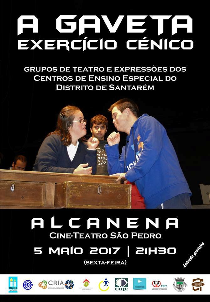 """Cartaz do Exercício Cénico """"A Gaveta"""" em Alcanena"""
